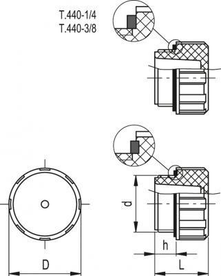 Korki T.440 - rysunek techniczny