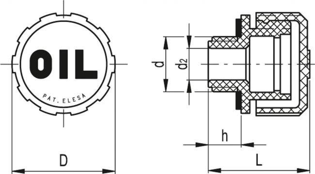 Korki odpowietrzające SFN - rysunek techniczny