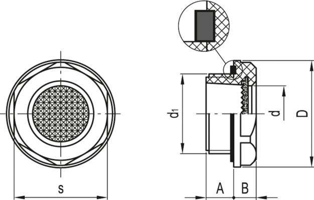 Wskaźniki poziomu pryzmatyczne do wysokich temperatur HGFT-HT-PR - rysunek techniczny