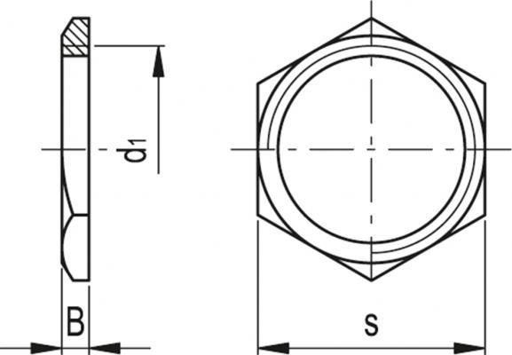 Nakrętki GH - rysunek techniczny