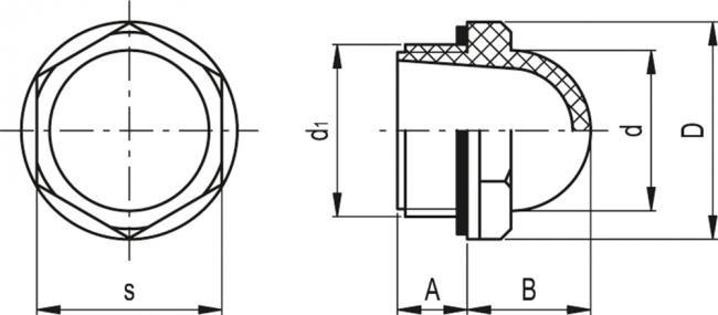 Wskaźniki przepływu HCFE - rysunek techniczny