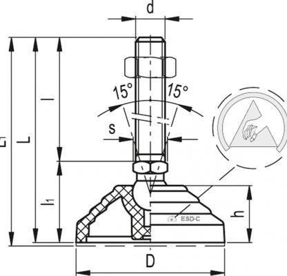 Stopy wahliwe z podstawą antystatyczną LV.A-ESD-C