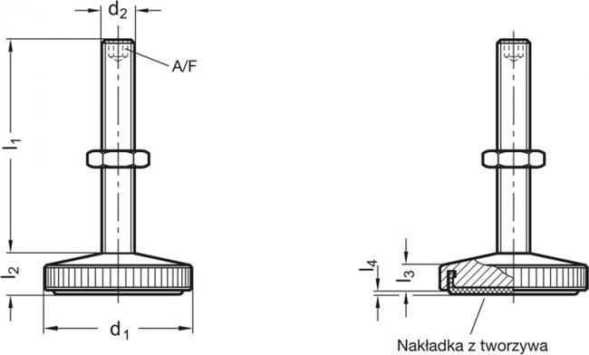 Stopy nierdzewne GN 339-NI