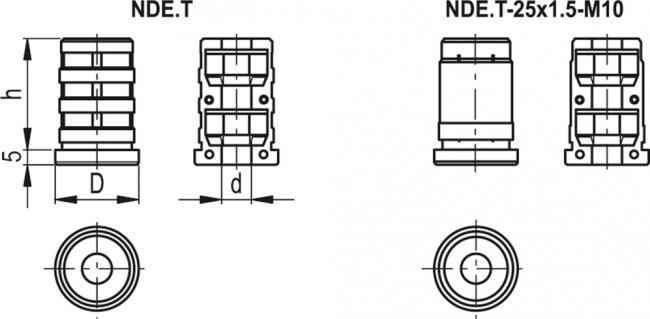 Zaślepki rozprężne do profili okrągłych NDE.T