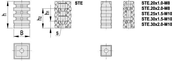 Łączniki rozprężne do profili kwadratowych STE