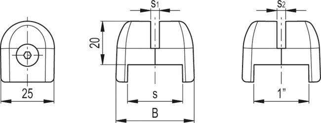 Uchwyty do osłon stałych i siatki zgrzewanej elektrycznie PPR
