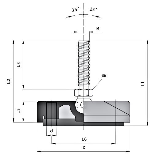 Stopy wahliwe fi 80 mm z kotw