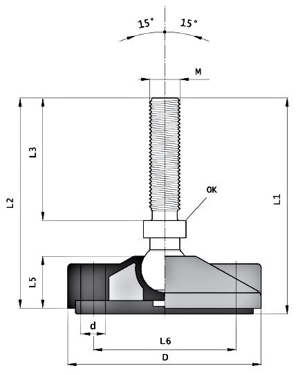 Stopy wahliwe fi 100 mm z kotwieniem