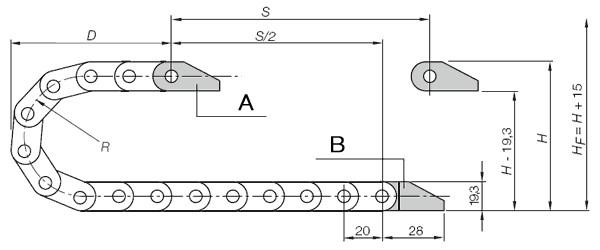 Seria E08 - Prowadnik, wypełnianie po zewnętrznym promieniu