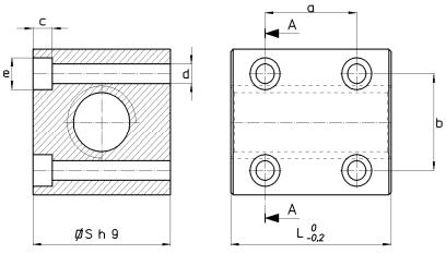 Nakrętki trapezowe QBF czworokątne z brązu z otworami