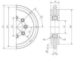 Łożyska z aluminiowym pierścieniem do stołów obrotowych