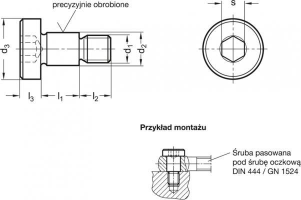 Śruby pasowane GN 732.1-NI