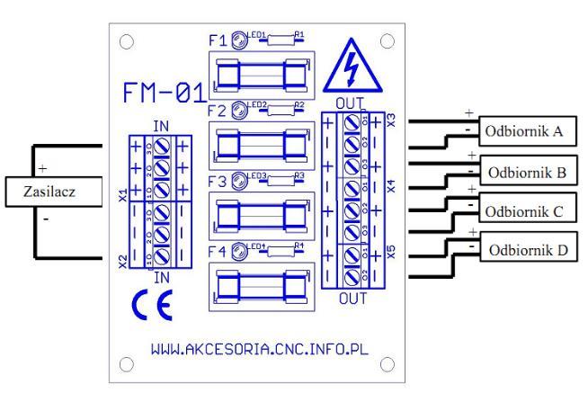 schemat podłączenia modułu fm01