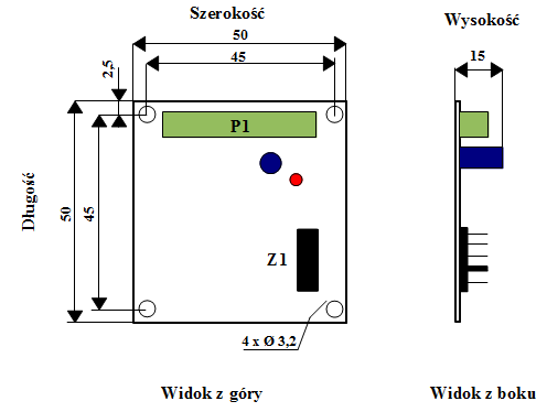 Wymiary generatora GEN - 1