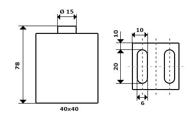 Wymiary mechaniczne czujnika
