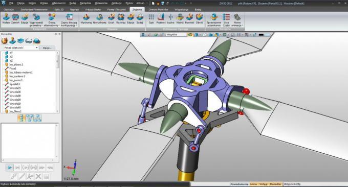 Przykłady elementów zamodelowanych za pomocą ZW3D Lite