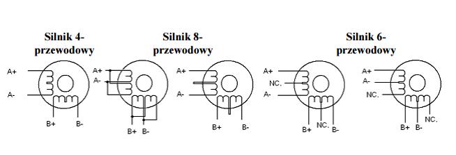 Diagram podłączenia silników