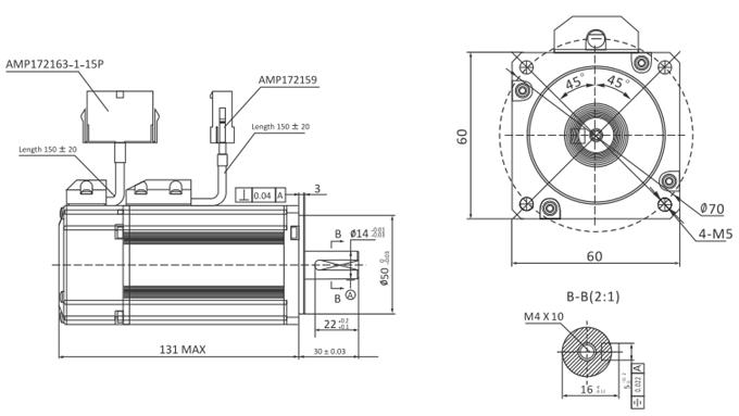 Wymiary mechaniczne EL5-M0400-2-24