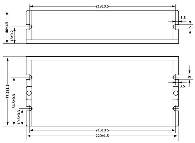 Schemat wymiarów mechanicznych MX4660