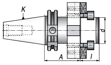 Trzpień frezarski DIN40.A60.D40DF