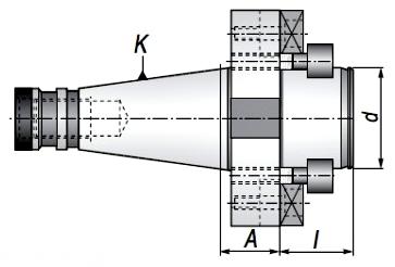 Trzpień frezarski ISO40.A30.D40DF