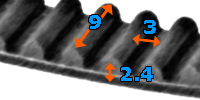 Pas zębaty 171-3M-09 z57