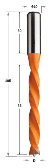 Wiertło Nieprzelotowe HW D=10 I=65 L=105 S=10x30 LH 372.100.12